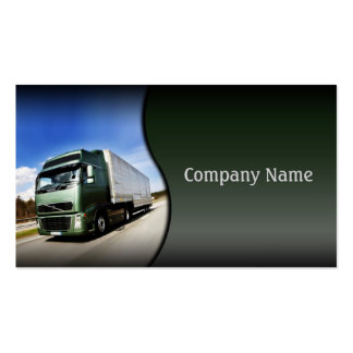 Green Truck On The Road Card Double-Sided Standard Business Cards (Pack Of 100)