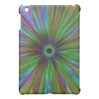 Green Tufted Rainbow Speck Case iPad Mini Covers