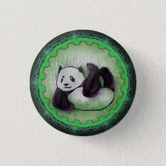 Green Tumbling Panda Pal Button
