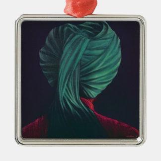 Green Turban Metal Ornament