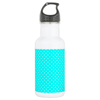 Green-Turquoise-And-White-Polka-Dots-Pattern 18oz Water Bottle