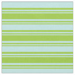 [ Thumbnail: Green & Turquoise Colored Lines Pattern Fabric ]