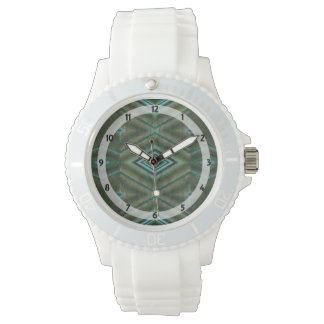green turquoise diamond shaped design watches