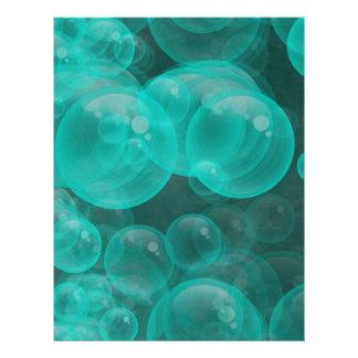 green- turquoise playful bubbles letterhead