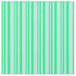 [ Thumbnail: Green & Turquoise Stripes/Lines Pattern Fabric ]