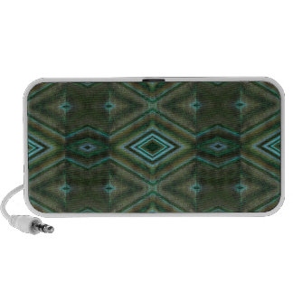 green turquoise texture iPod speakers