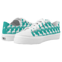 Green Turquoise Unicorn Pattern Trendy Stylish Fun Low-Top Sneakers