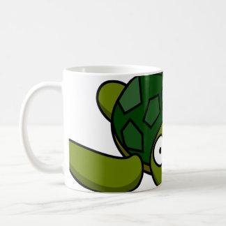 Green Turtle Cartoon Coffee Mug