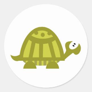 Green Turtle Classic Round Sticker
