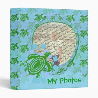 "Green Turtle Customizable 1"" Photo Binder"
