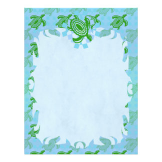 Green Turtle Flame Letterhead