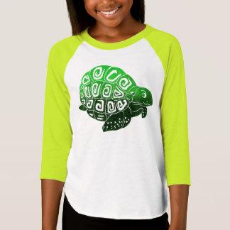 Green Turtle Girls' Raglan T-Shirt