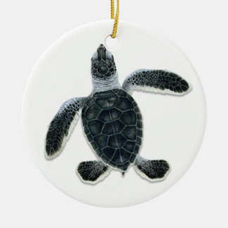 Green Turtle Hatchling Ornaments