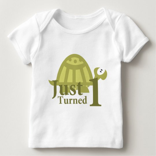 Green Turtle: Just Turned One Baby T-Shirt
