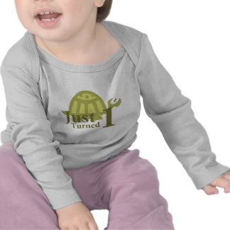 Green Turtle: Just Turned One Tshirts