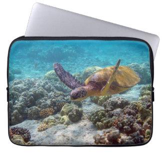 Green Turtle Laptop Sleeve