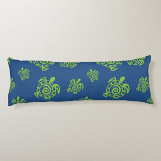 Green Turtle Pattern Body Pillow