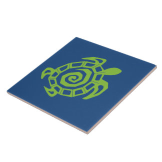 Green Turtle Pattern Ceramic Tile