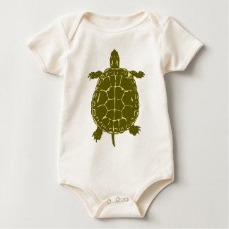 Green Turtle Shell Sea Ocean Gift Present Baby Bodysuit