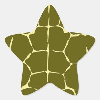 Green Turtle Shell Sea Ocean Gift Present Star Sticker