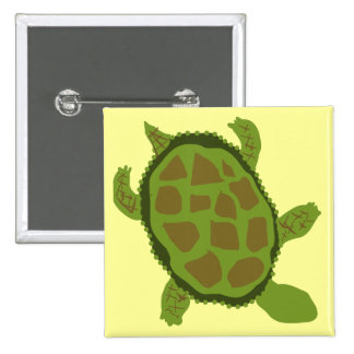 Green Turtle Tshirts and Gifts Pinback Button