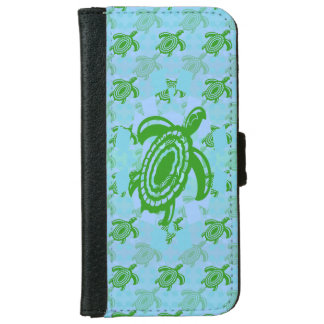 Green Turtle Wallet Phone Case For iPhone 6/6s