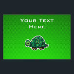 """Green Turtle Yard Sign<br><div class=""""desc"""">You will love this sleek green turtle shell turtles tortoise design. Great for gifts! Available on tee shirts, smart phone cases, mousepads, keychains, posters, cards, electronic covers, computer laptop / notebook sleeves, caps, mugs, and more! Visit our site for a custom gift case for Samsung Galaxy S3, iphone 5, HTC...</div>"""