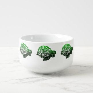 Green Turtles Pattern Soup Mug
