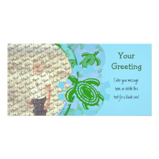 Green Turtles PhotoCard Template Customized Photo Card
