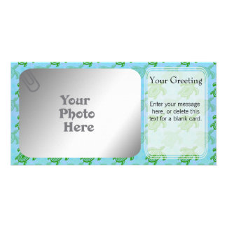 Green Turtles PhotoCard Template Personalized Photo Card