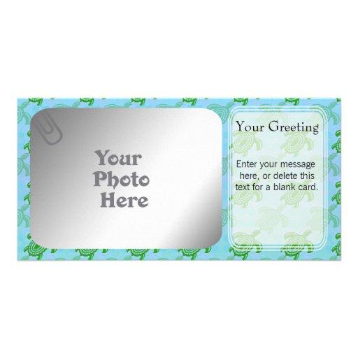 Green Turtles PhotoCard Template Photo Card