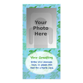 Green Turtles Vertical PhotoCard Template Photo Card