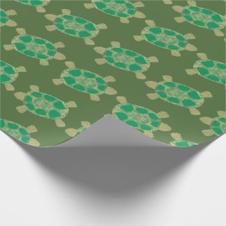 Green Turtles Wrapping Paper