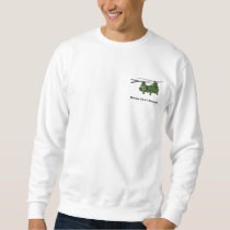 Green Twin-Engine CH-47 Chinook Helicopter Sweatshirt