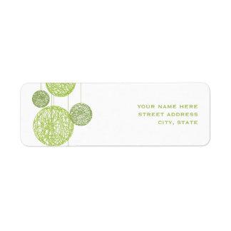 Green Twine Globes Address Label