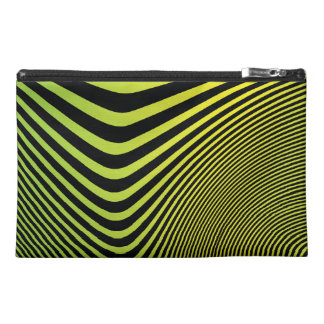 green twisted lines pattern travel accessory bags