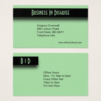Green Two Sided Business Card