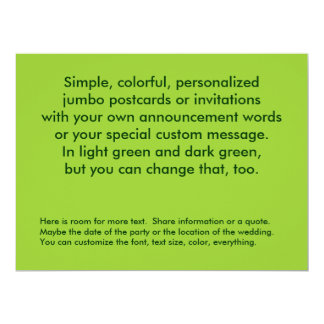 Green two sided fully customized easy to make card