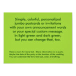 Green two sided fully customized easy to make 6.5x8.75 paper invitation card