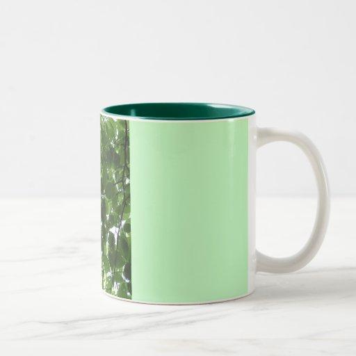 Green Two-Tone Coffee Mug