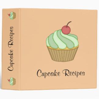 Green Two Tone Cupcake Recipe Binder