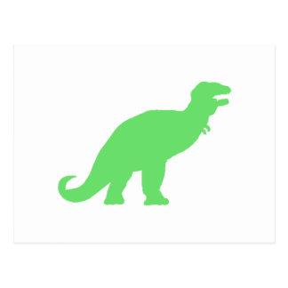 Green Tyrannosaurus Rex Post Card