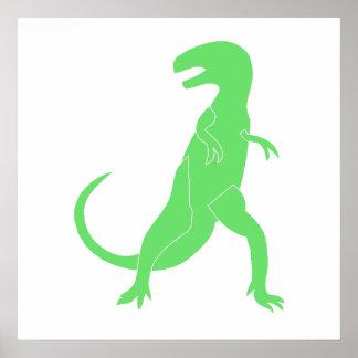 Green Tyrannosaurus Rex Posters