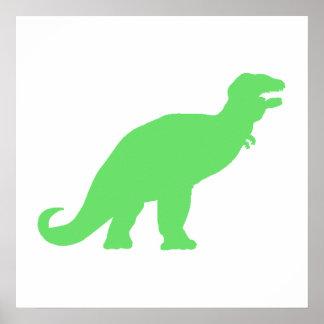 Green Tyrannosaurus Rex Print
