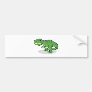 Green Tyrannosaurus Rex (T-Rex) Dinosaur Bumper Sticker