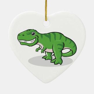 Green Tyrannosaurus Rex (T-Rex) Dinosaur Ceramic Ornament