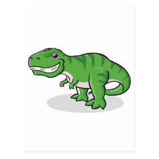 Green Tyrannosaurus Rex (T-Rex) Dinosaur Postcard