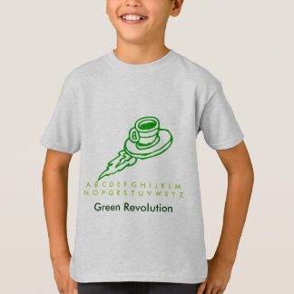 Green UFO Flying Disc T-Shirt