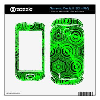 Green ugly pattern skin for samsung omnia II