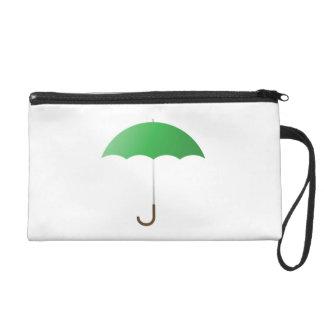 Green Umbrella Wristlet Clutches